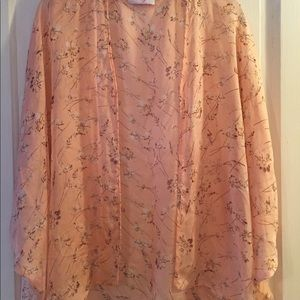 Peach Flower Pattern Kimono, O/S, by Icing